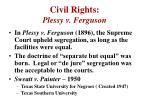 civil rights plessy v ferguson