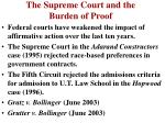 the supreme court and the burden of proof35