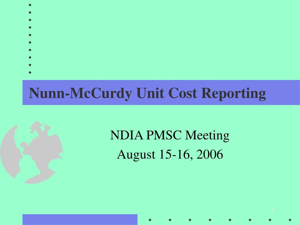 nunn mccurdy unit cost reporting l.