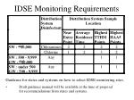 idse monitoring requirements
