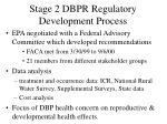stage 2 dbpr regulatory development process