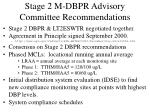 stage 2 m dbpr advisory committee recommendations
