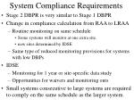 system compliance requirements