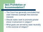 3bii prohibition or accommodation