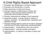 a child rights based approach
