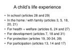 a child s life experience