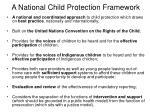 a national child protection framework