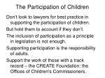 the participation of children