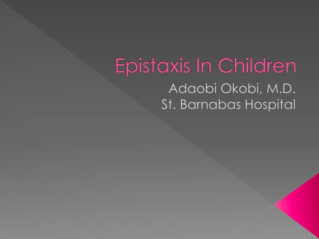 epistaxis in children l.