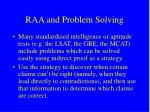 raa and problem solving