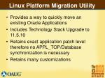 linux platform migration utility