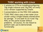 tusc working with linux16