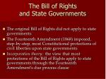 the bill of rights and state governments