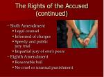 the rights of the accused continued