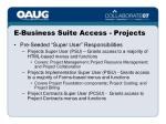 e business suite access projects