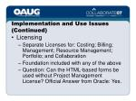 implementation and use issues continued25