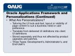 oracle applications framework and personalizations continued