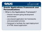 oracle applications framework and personalizations