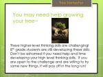 you may need help growing your tree