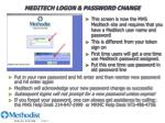 meditech logon password change