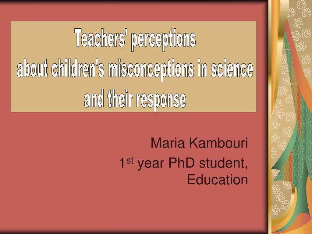 maria kambouri 1 st year phd student education l.