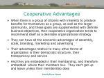 cooperative advantages