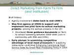 direct marketing from farm to firm and institution