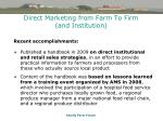 direct marketing from farm to firm and institution41