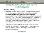 direct marketing from farm to firm and institution42