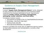 guidance on supply chain management