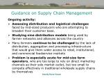 guidance on supply chain management44