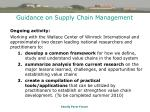 guidance on supply chain management46
