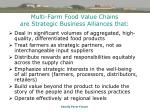 multi farm food value chains are strategic business alliances that