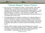 values based value chains