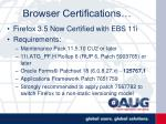 browser certifications22