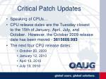 critical patch updates