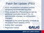 patch set update psu