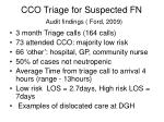 cco triage for suspected fn audit findings ford 2009
