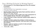 use a writing formula in writing papers