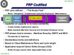frp codified