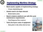 implementing maritime strategy