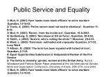 public service and equality