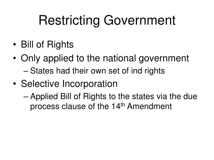 Restricting government