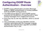 configuring eigrp route authentication overview