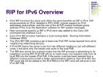 rip for ipv6 overview
