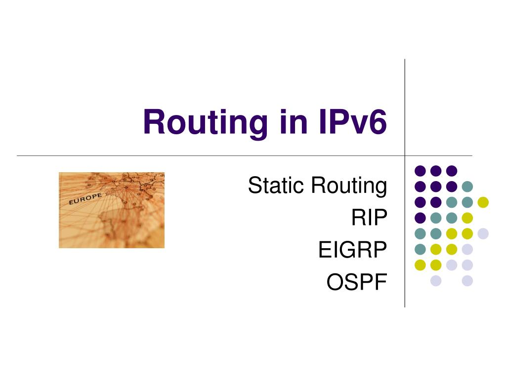 routing in ipv6 l.