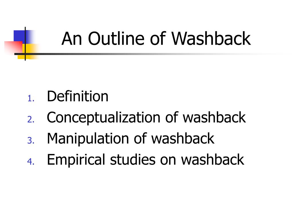 an outline of washback l.