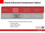 oracle advanced compression option8