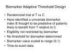 biomarker adaptive threshold design31