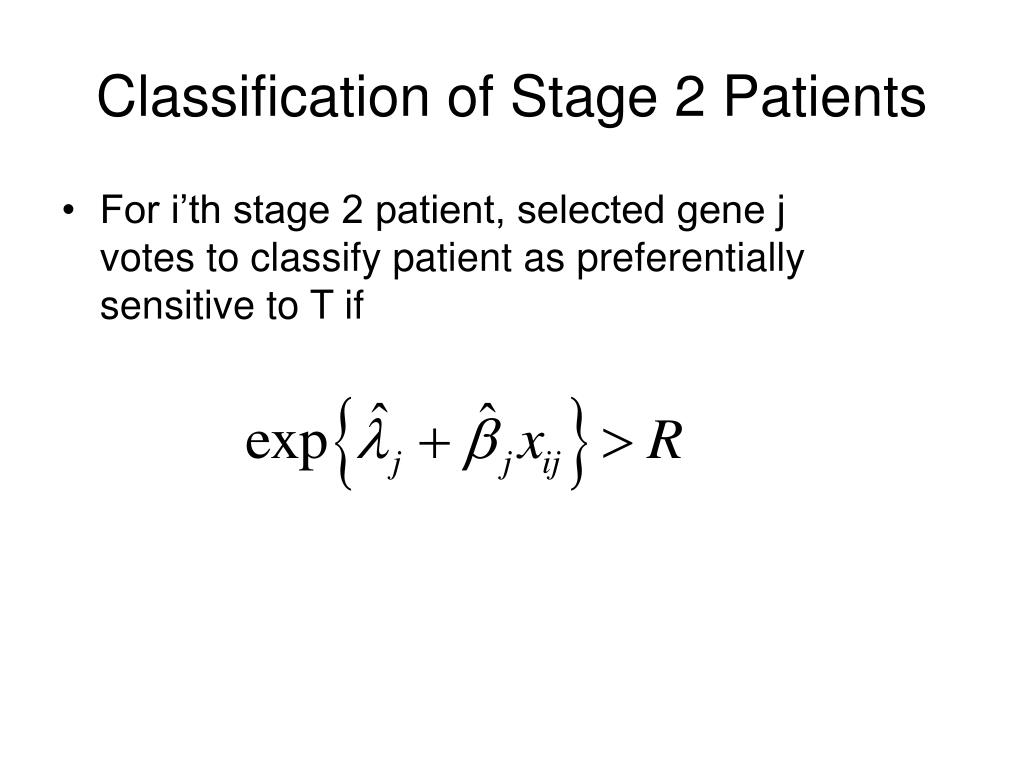 Classification of Stage 2 Patients